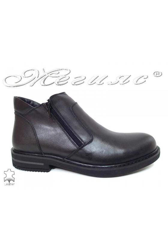 Men boots 025 black leather