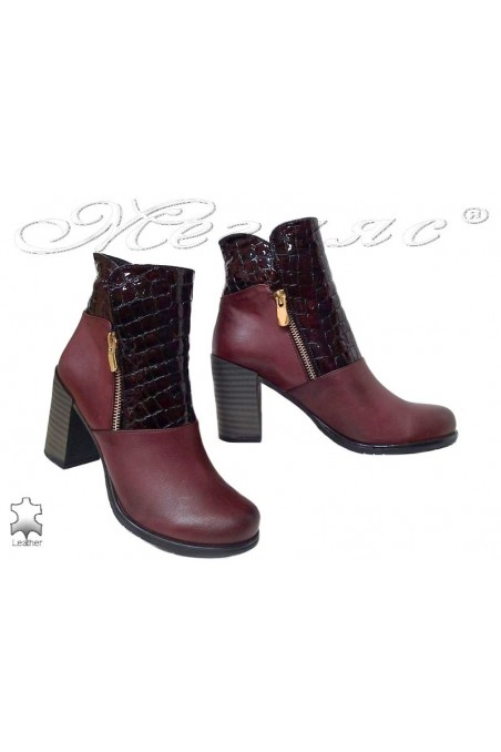 Women boots 3200 wine leather