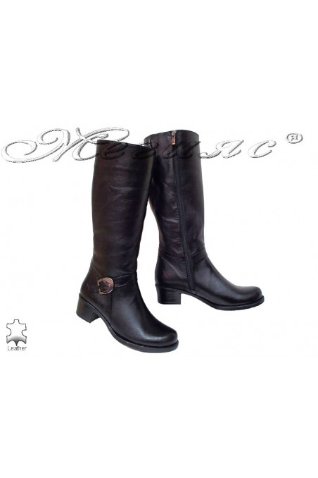 Women boots 13 black leather