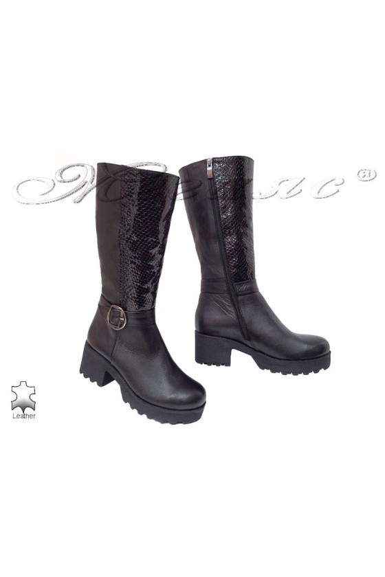 Women boots 250 black  leather