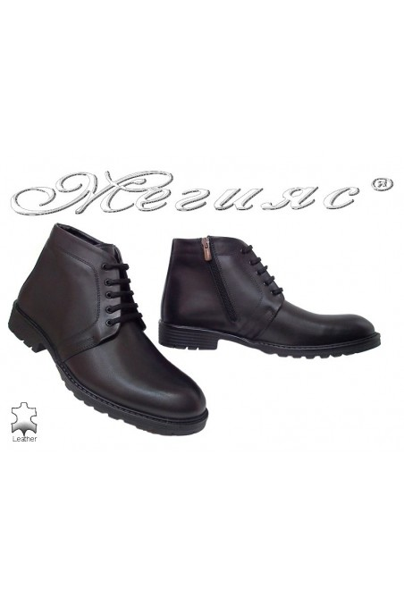 Men boots 7250 black leather