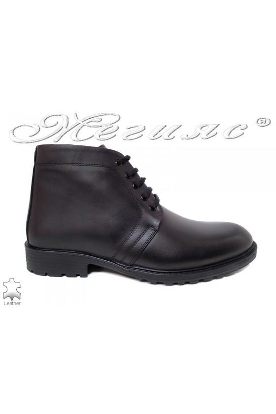 Men boots 7250 black leather