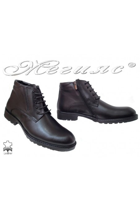 Men boots 7255 black leather