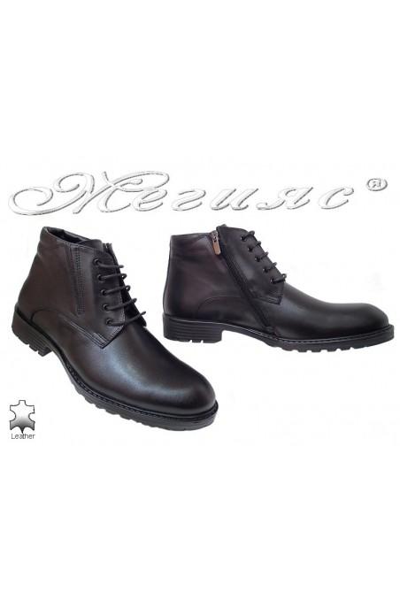 Men boots 7255 black leather