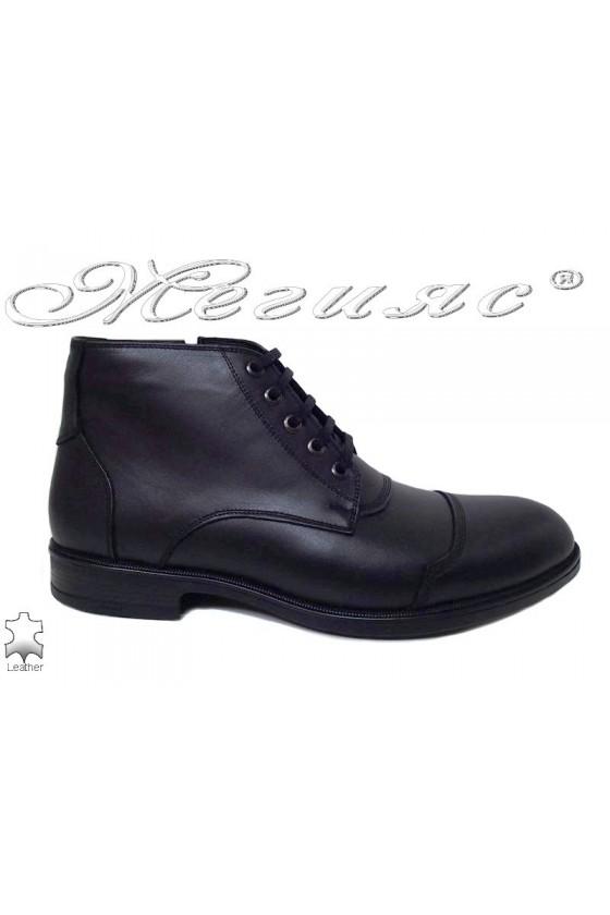Men boots 2201 black leather