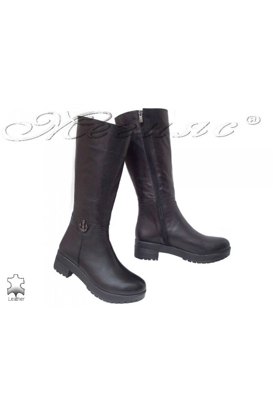 Women boots 603 black leather