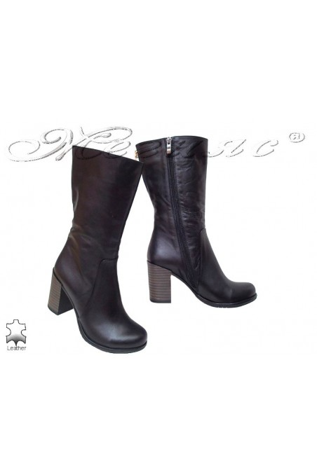 Lady boots 3500 black clear all leather