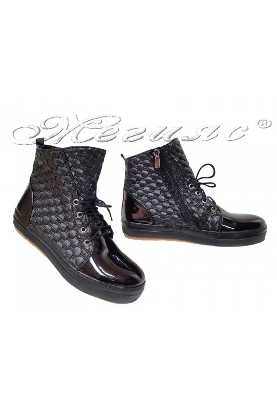 Lady sports  ankle boots 02 black pu