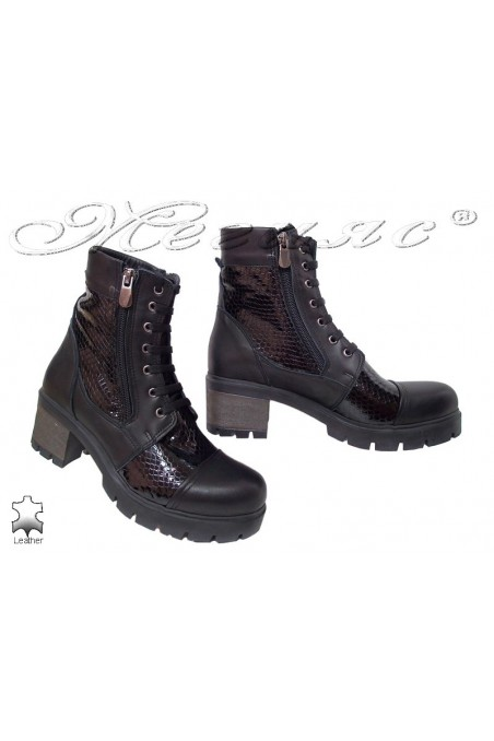 Lady boots 310/634 black leather