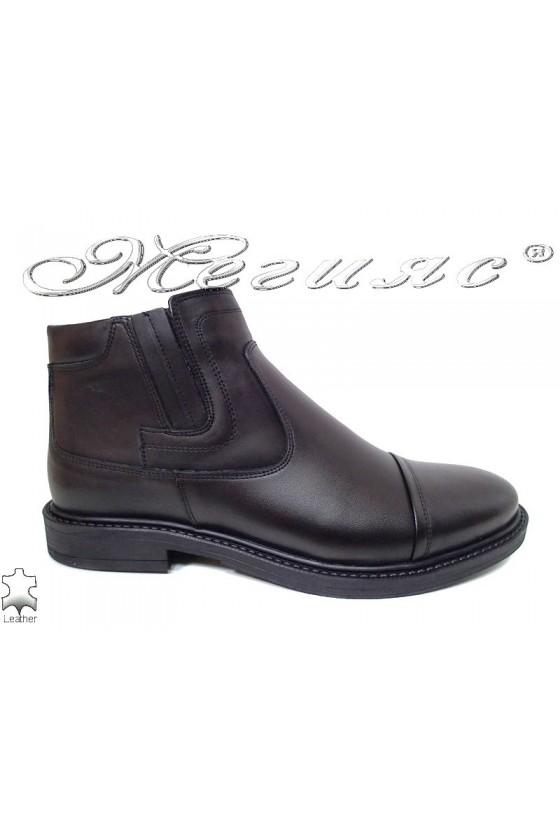 Men boots 9523 black leather