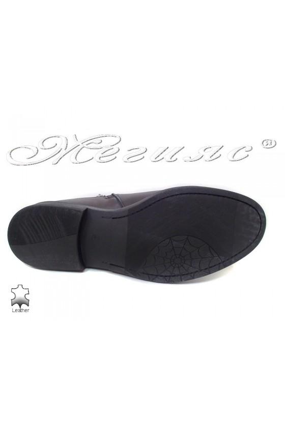 Мъжки елегантни боти Фантазия 9523 черни естествена кожа