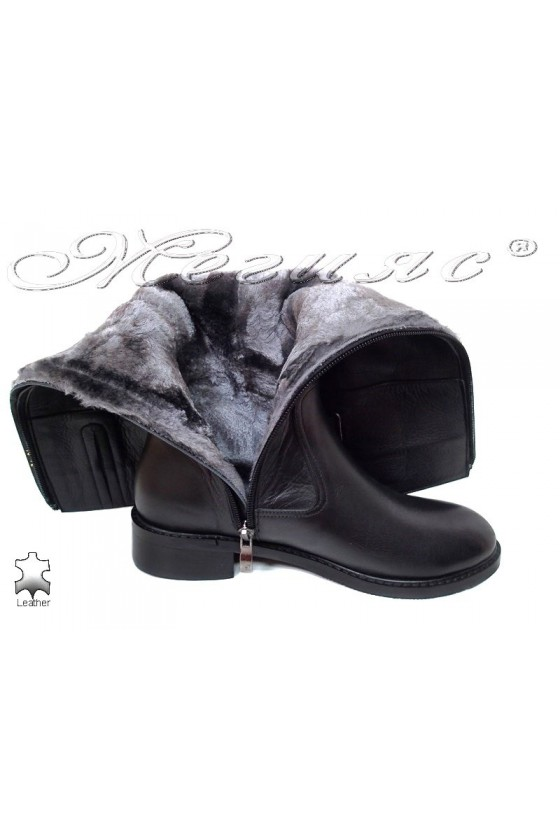 Women boots 71 black  leather