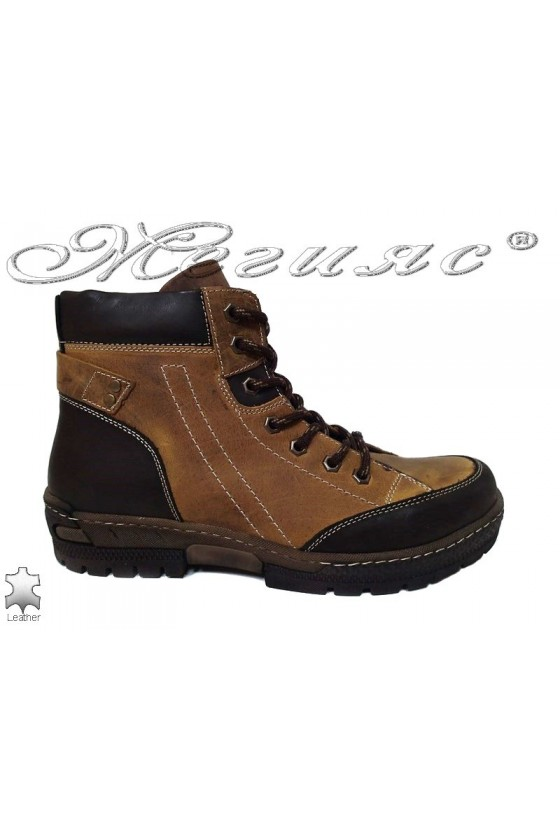 Men sport boots 730 brown leather