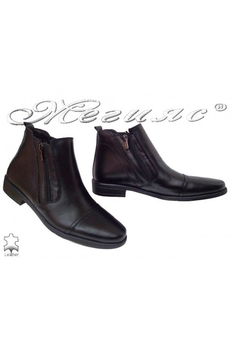 Men elegant boots 0200 black leather