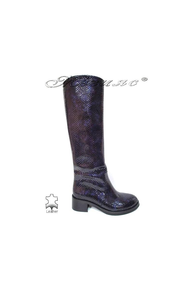 Women boots 4025 beige leather