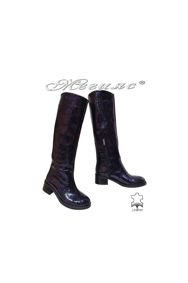 Women boots 4025 beige leather
