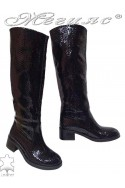 Women boots 4025 black leather