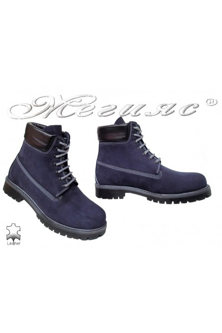 boots casual Mer / Garson blue suede leather