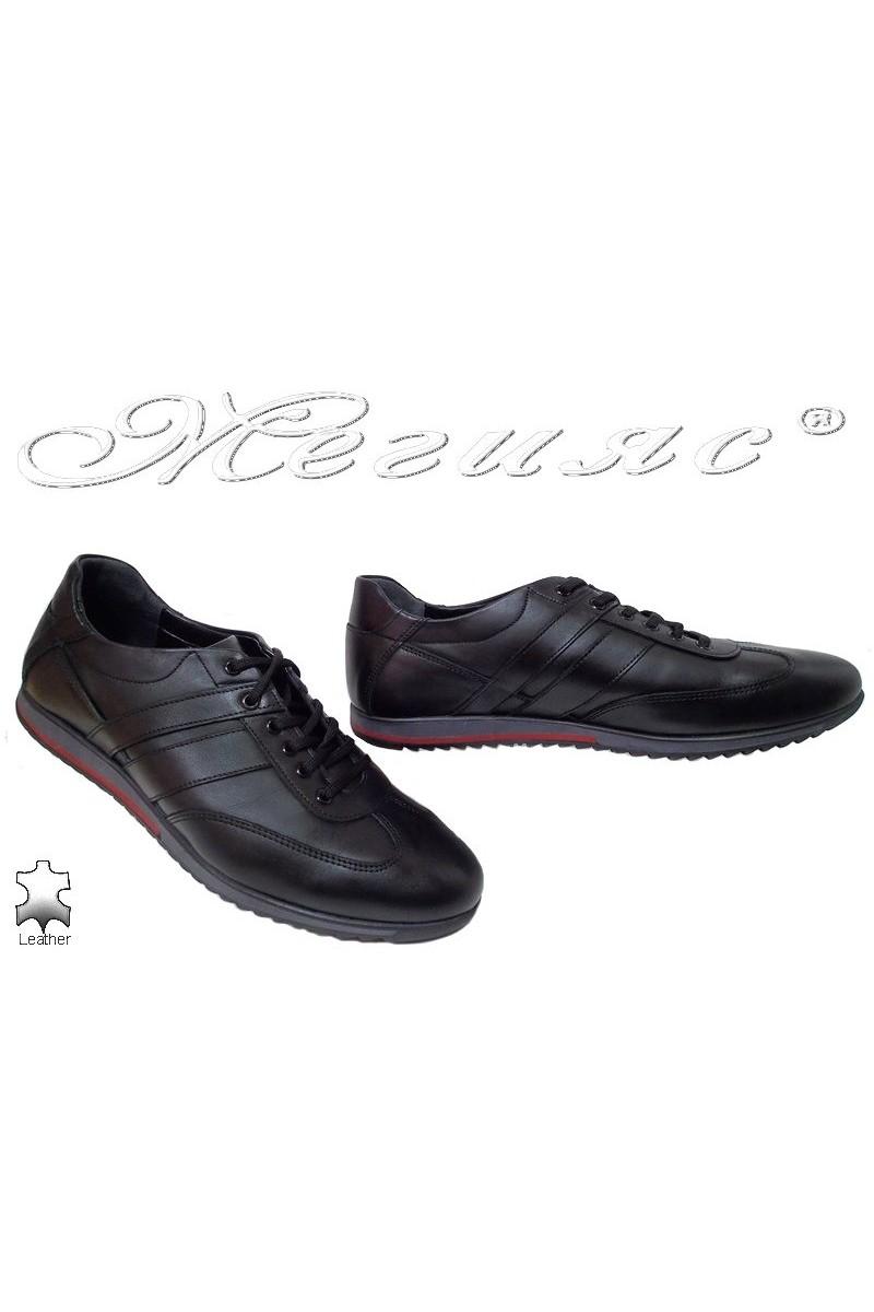 Мъжки обувки Фантазия 5000 черни от естествена кожа спортни