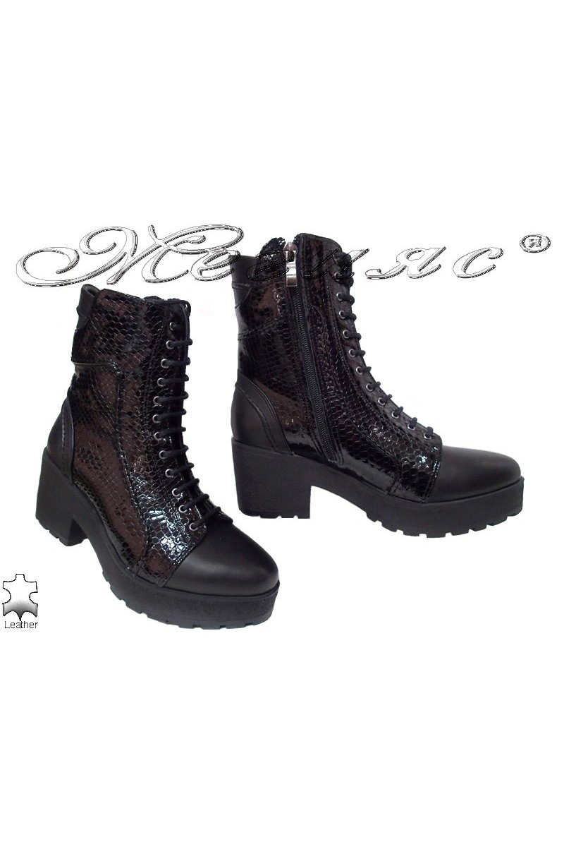 Lady boots 105 black leather