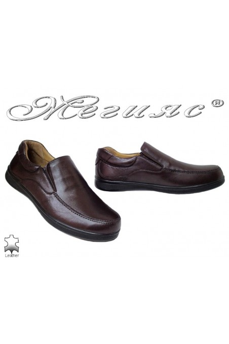 Men shoes 500 brown leather