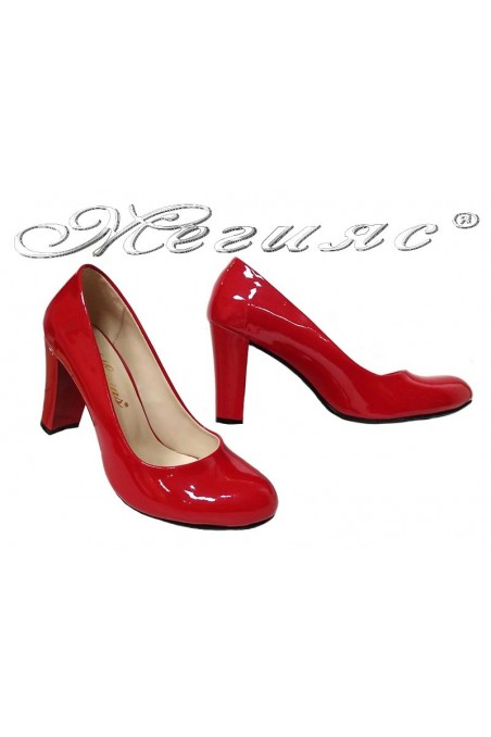 Women elegant shoes 01203 red patent