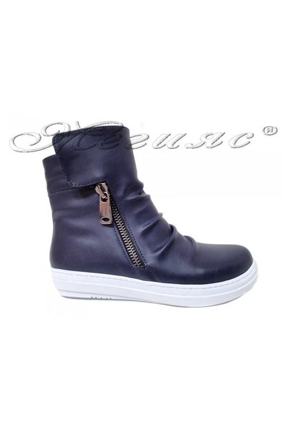 Women sport boots 35 blue pu