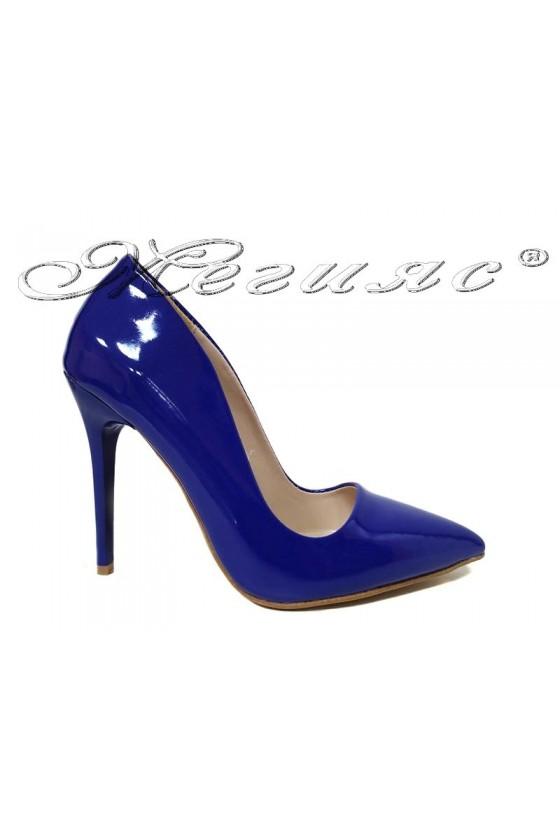 Women elegant  shoes 5596 blue patent