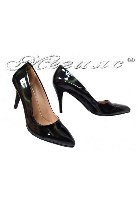 Lady elegant shoes 150 dark green