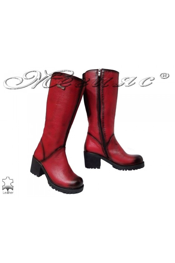 Lady boots 50/111 red leather