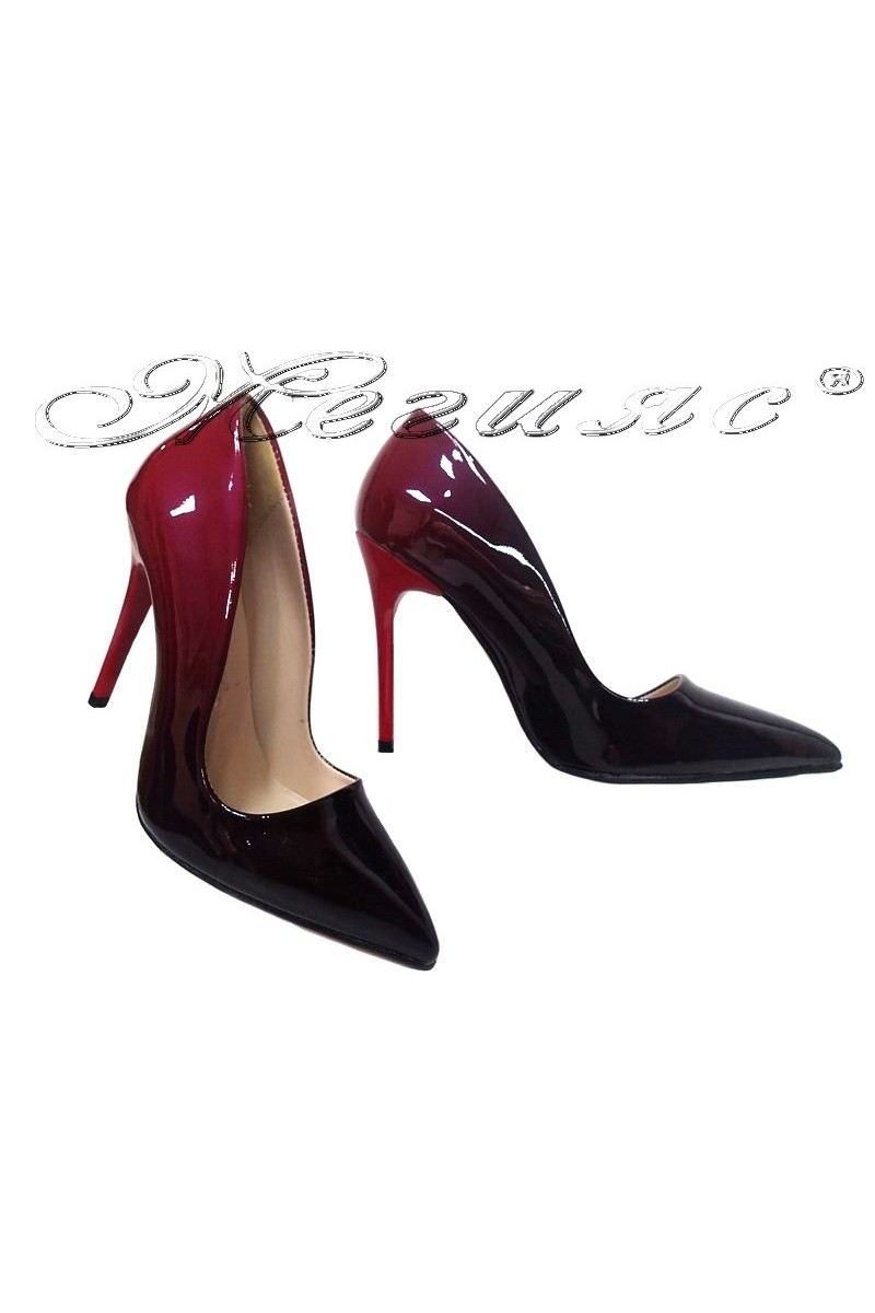 lady elegant shoes 5596 red+black