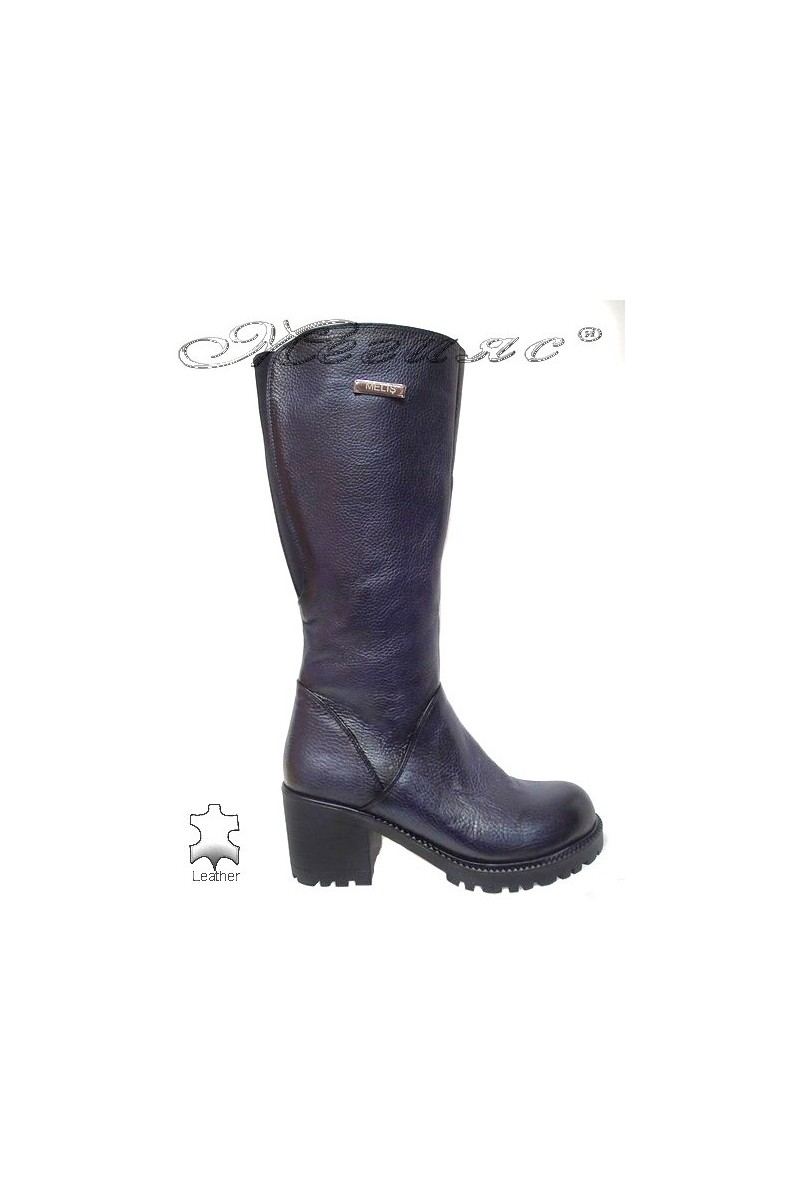 Lady boots 50/108 blue leather
