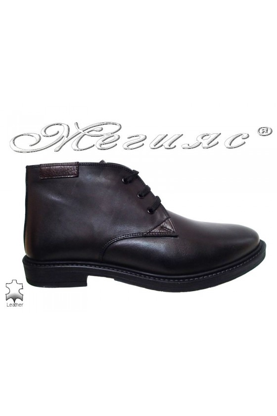 Men's boots 9522 black leather