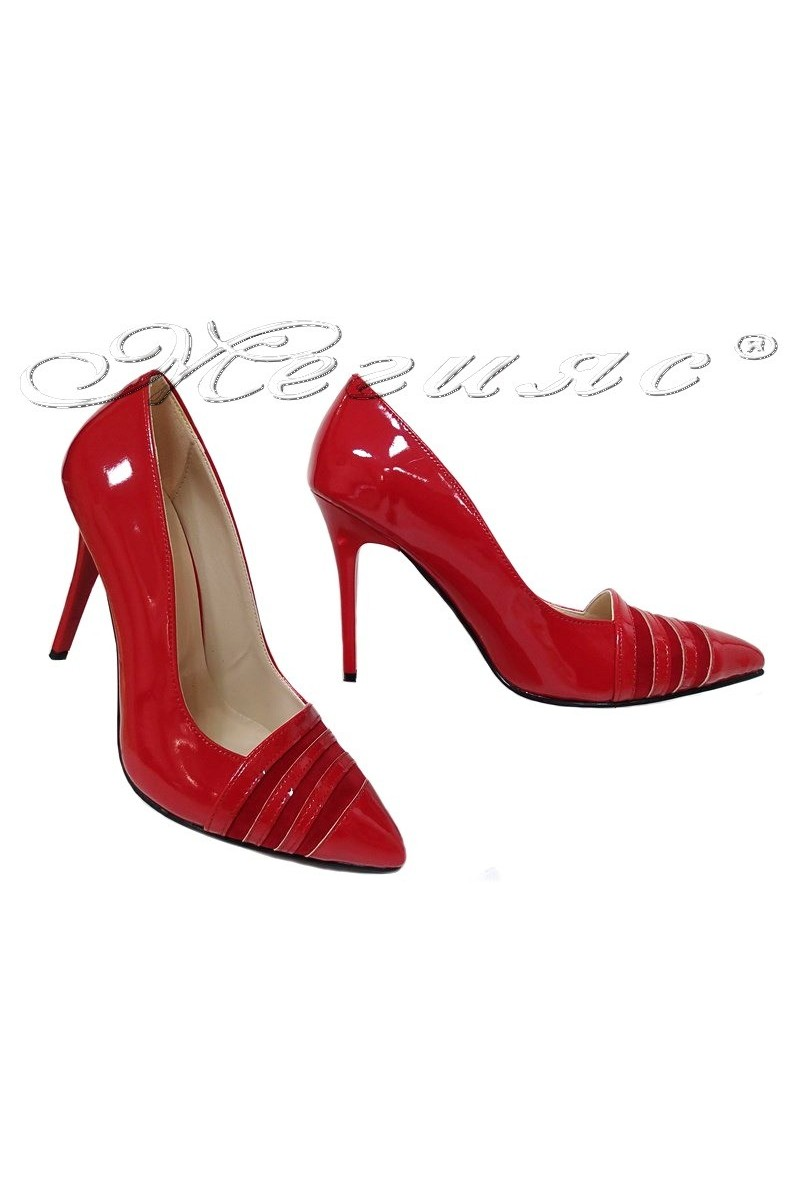Lady shoes 01515 red