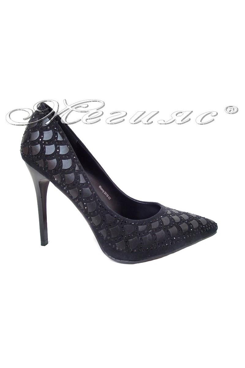 Women elegant shoes WENDY 2016-02 high heel black