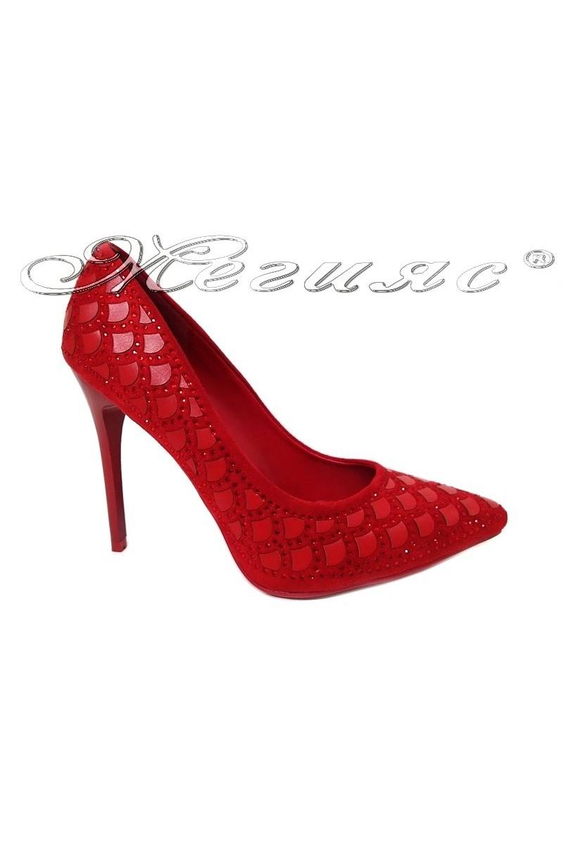 Women elegant shoes WENDY 2016-03 high heel red