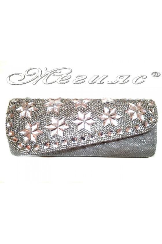 Абитуриентска чанта 15252 сребрист текстил