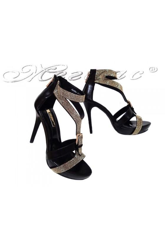 Дамски сандали JENIFFER 20S16-238 черни на висок ток