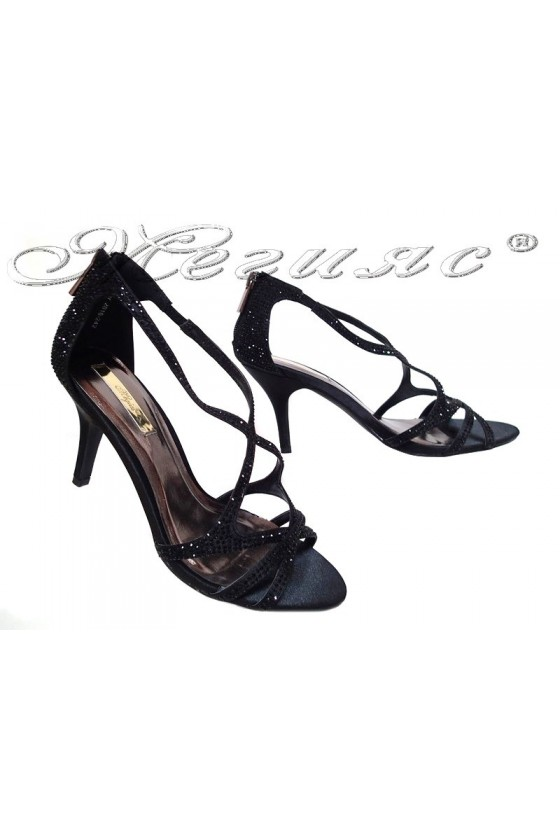Дамски сандали JENIFFER 20S16-242 черни нисък ток