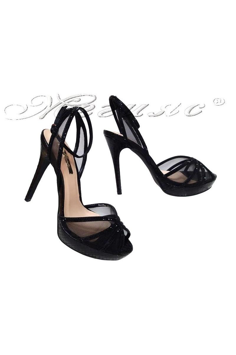 Дамски обувки JENIFFER 2016-234 черни на висок ток