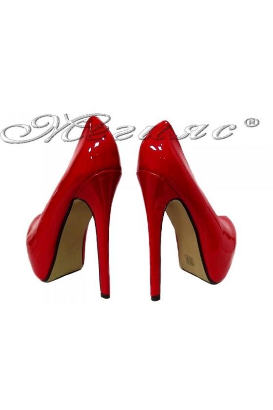 Дамски елегантни обувки JESS 20S16-254 червени на висок ток