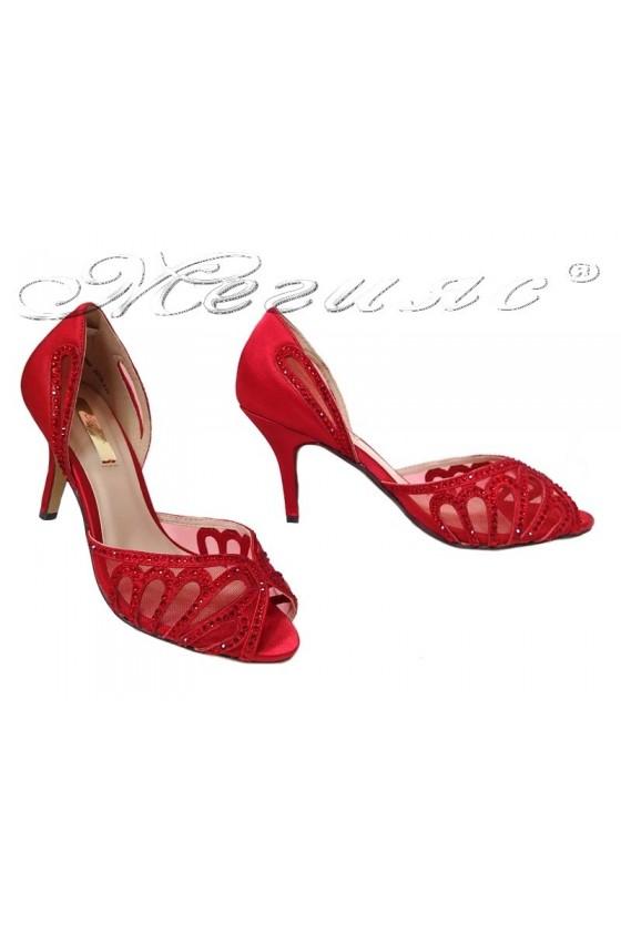 Дамски сандали JENIFFER 20S16-235 червени нисък ток