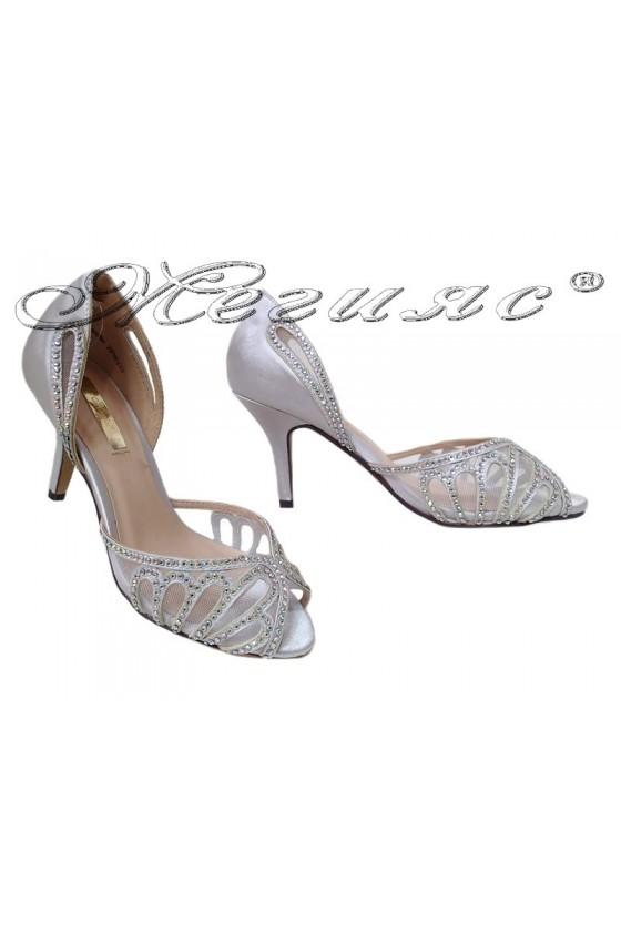 Дамски сандали JENIFFER 20S16-235 сребристи на нисък ток