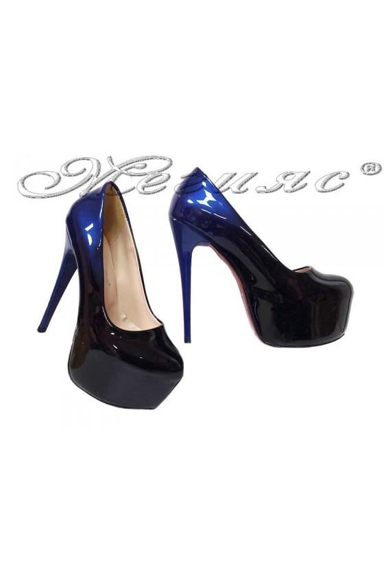 Lady elegant shoes 50 blue+black