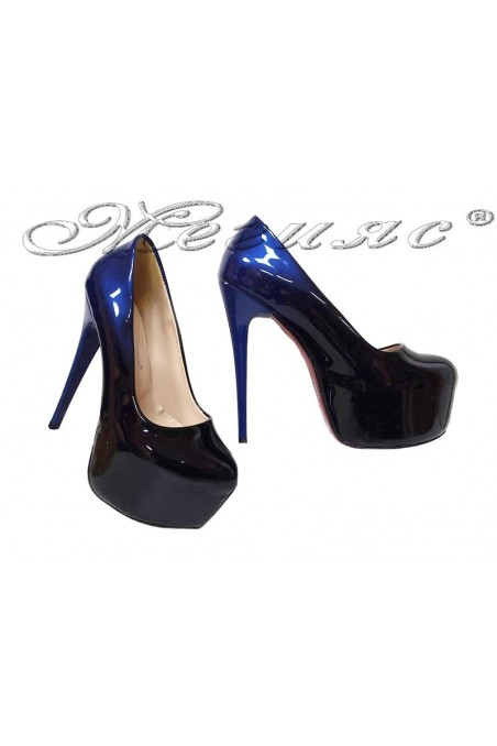 Lady elegant shoes 50 blue+black