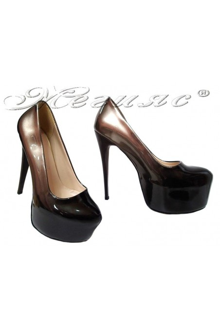 Lady elegant shoes 50 gold+black