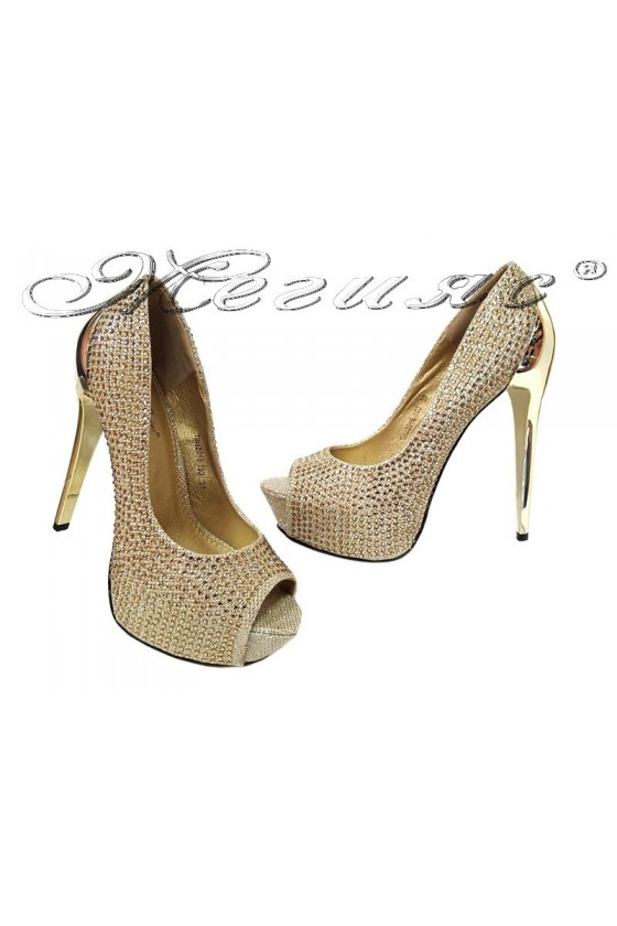 Lady shoes TINA 20S16-103 gold