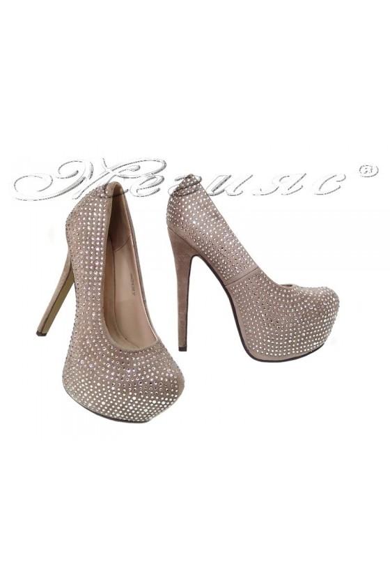 Lady shoes 2016-250 beige