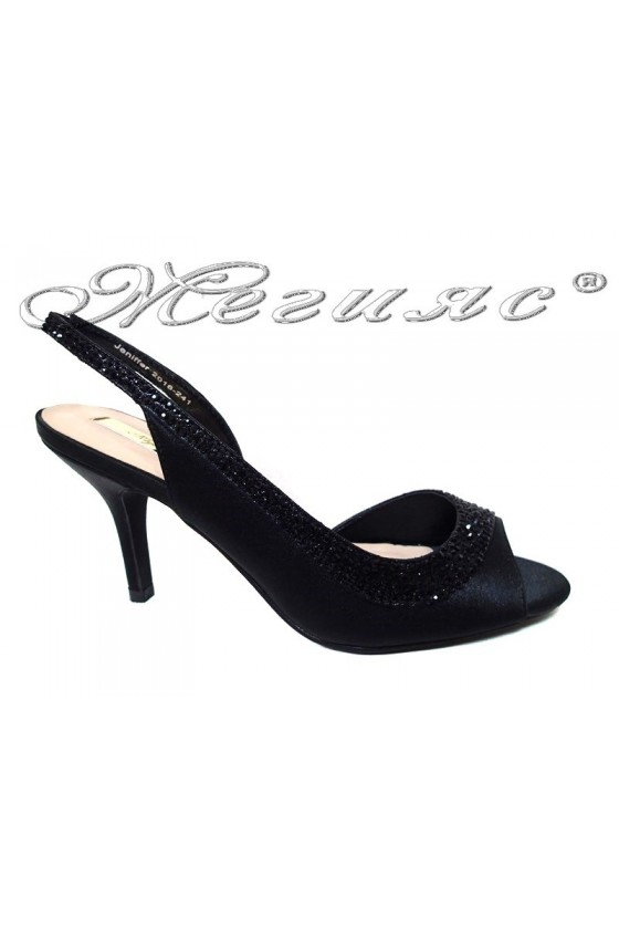 Дамски сандали JENIFFER 20S16-241 черни на нисък ток