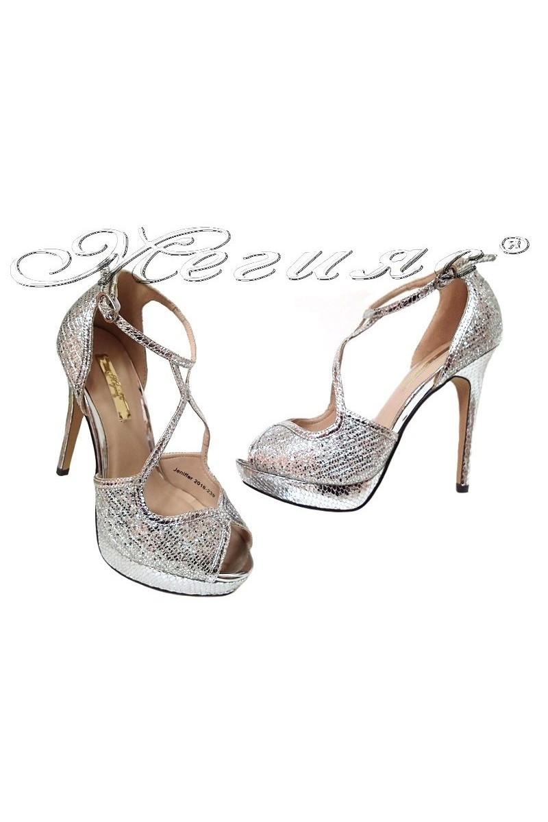 Lady shoes JENIFFER 2016-239 silver